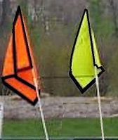 HOMEMADE SAFETY FLAGS